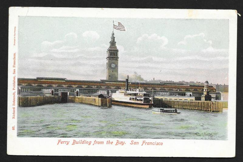Ferry Building High View San Francisco CA Unused c1905