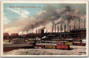 Vintage 1920s Birmingham, Alabama Postcard Ensley STEEL MILL Factory / Unused