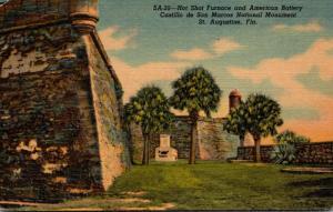 Florida St Augustine Hot Shot Oven & American Battery Castillo de San Marcos ...
