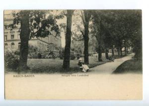 151753 GERMANY BADEN-BADEN Anlagen beim Landesbad OLD PC