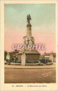 Old Postcard Amiens The War Memorial