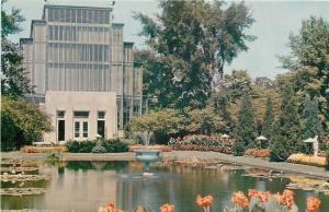 St Louis Missouri~Forest Park~Jewel Box~Front View~1950s Postcard