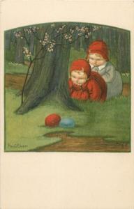 PAULI EBNER signed children Easter fantasy