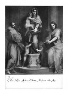 Italy Firenze Madonna of the Harpies Uffizi Gallery Glossy Photo 4X6 Postcard