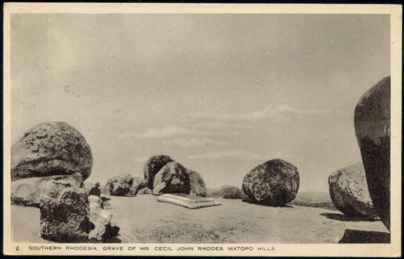 southern rhodesia, MATOPO Hills, Grave of Cecil John Rhodes (1920s) Tuck