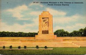 Florida Keys Hurricane Monument To War veterans At Islamorada 1953