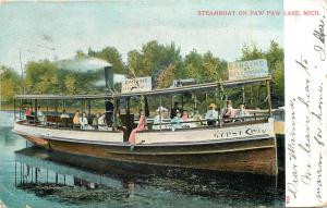 Paw Paw MI~Gal Dangles Legs Over Steamboat Gypsy Side~Beachwood Dancing 1907