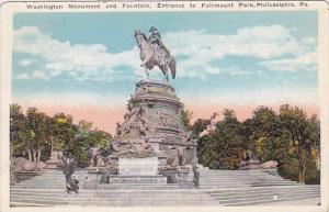 Washington Monument And Fountain Entrance To Fairmount Park Philadelphia Penn...