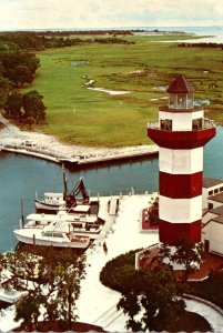 South Carolina Hilton Head Harbour Town Golf Club 18th Fairway From Lighthouse