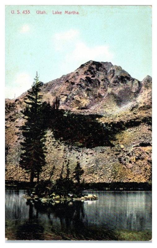 Early 1900s Lake Martha, UT Postcard