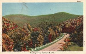 Greetings from Plattsmouth, Nebraska, NE, Fall Foliage,1950 Linen Postcard f3956