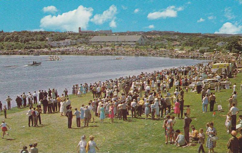 Annual Regatta at famous Quidi Vidi Lake,   St. John´s Newfoundland,  Canada...