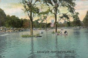 CLEVELAND, Ohio, PU-1908; Brookside Park, Beach & Water Scene