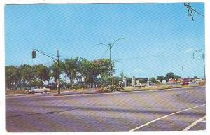 Panoramic view of Entrance to Parc Sauve, Valleyfield, Quebec, Canada, PU_40-60s