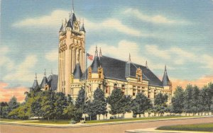 Spokane County Court House, Spokane, Washington ca 1940s Vintage Postcard