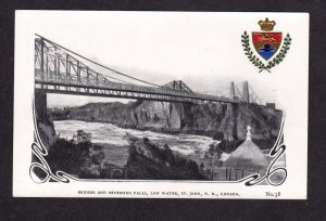 NB Bridges Saint St John New Brunswick Canada Private Postcard Carte Postale