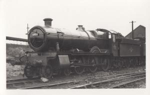 6853 Train At Worcester Station Vintage Railway Photo