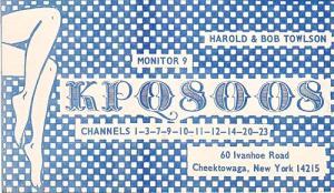 CB QSL - KPQ8008, Harold & Bob Towlson, Cheektowaga NY