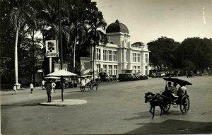 indonesia, JAVA BATAVIA, Bank Office, Post-Spaar-Bank, Cars (1910s) RPPC