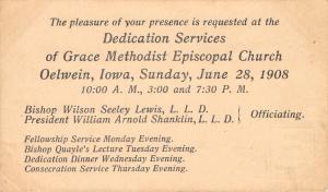 Oelwein IA~Grace United Methodist Episcopal Church~Lewis, Shanklin, Quayle 1908