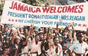 Jamaica Welcomes President Ronald Reagan and Mrs Reagan 1982