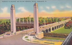 Pennsylvania Harrisburg Entrance To Soldiers And Sailors Memorial Bridge