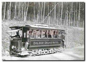 Old Postcard Der einzige Tramwagen im Ursprungszustand zwischen Grandhotel Do...