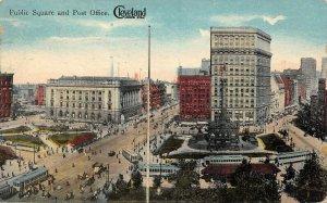LP92   Cleveland Ohio Streetcars Public Square         Postcard