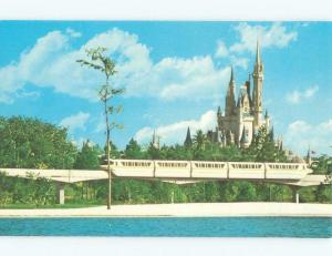 Unused Pre-1980 MONORAIL AT DISNEY WORLD Kissimmee - Orlando Florida FL E3762-12