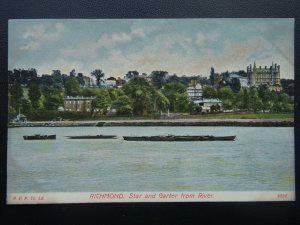 Surrey RICHMOND The Star & Garter from River Thames - Old Postcard by Rapid