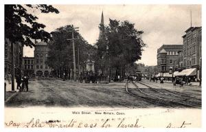 Connecticut  New Britain , Main Street , Trolley , Carriages