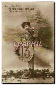 Old Postcard Fun Children Lucky charm figure 13