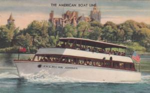 THOUSAND ISLANDS, New York, 1930-40s; American Boat Line, American Adonis