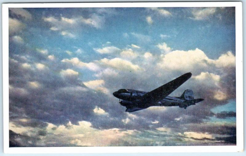 Advertising UNITED AIR LINES   Mainliners are Military Planes too  Postcard