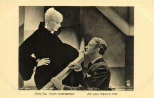 PC CPA GRETA GARBO IN AS YOU DESIRE ME 186/4, REAL PHOTO Postcard (b21132)