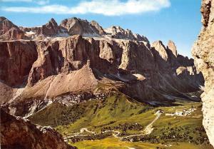 Italy Dolomiti Passo Gardena Gruppo Sella Mountain