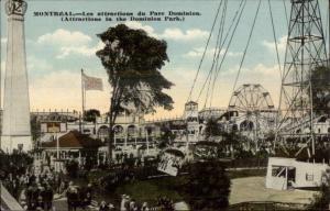 Montreal - Dominion Park Rides c1910 Postcard