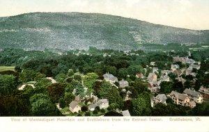 VT - Brattleboro. View of Mt. Wantastiquet