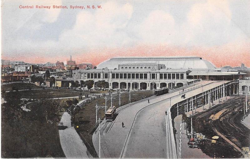 Sydney New South Wales Australia Central Railway Station Antique Postcard (J7553
