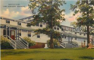 Camp Robinson Arkansas~Service Club~1940s WWII Era~Quapaw PC