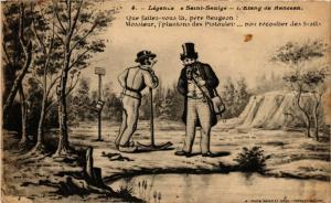 CPA Folklore - Legende de St-Saulge - L'Etang de Ranceau (773677)