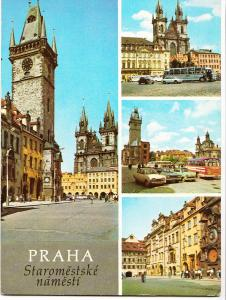Czech Republic, Prague, Praha, old Town Square, 1960s used Postcard