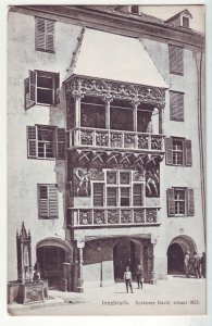 P1215 old unused postcard now Das Museum Goldenes Dachl in Innsbruck austria