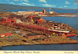 Canada Shipyards Thunder Bay Ontario General view Postcard
