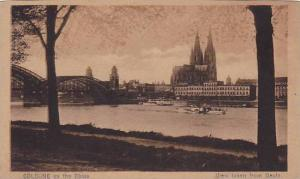 View Taken From Deutz, Cologne On The Rhine (North Rhine-Westphalia), Germany...