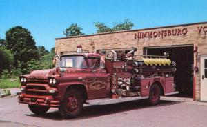 NY - Nimmonsburg. Engine No. 3, 1958 LaFrance Pumper