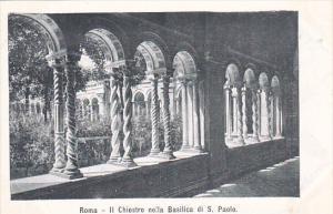 Italy Roma Rome Il Chiostro nella Basilica di San Paolo