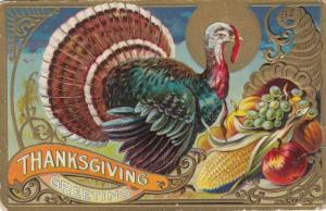 THANKSGIVING , Turkey & Horn O;Plenty , 1900-10s