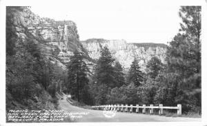 Arizona Frasher 1940s Scenic Oak Creek Canyon RPPC Photo Postcard Prescott 4696