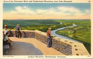 Tennessee Chattanooga Lookout Mountain View Of Tennessee River and Cumberland...